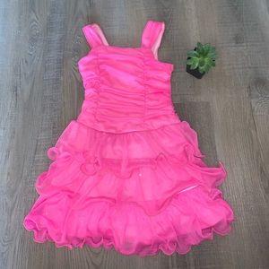 3+ $5 iZgirl Byer size 4 pink cascading dress